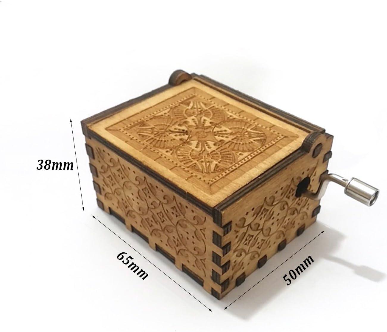 Funmo Reine Hand Klassischen Star Wars Musik Box Hand Hölzerne Spieluhr Kreative Holz Handwerk Amazon De Küche Haushalt
