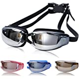 f62f95e3d7 VANCIC Swimming Goggles Anti Fog No Leaking Swim Glasses with Free Nose Clip    Earplugs for