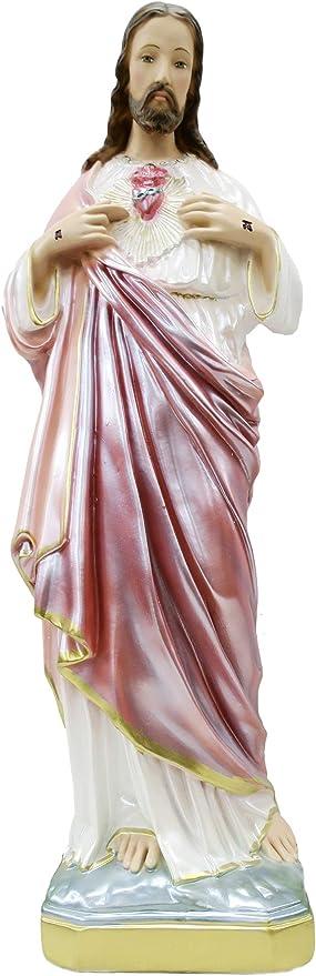 Ferrari Nacr/é Statue en pl/âtre Peinte /à la Main 60/cm Sacr/é C/œur de J/ésus