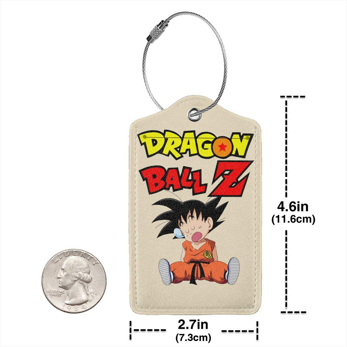 Dragon Ball Son Goku Fall Asleep Leather Luggage Tag Travel ID Label For Baggage Suitcase