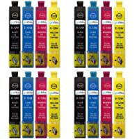 4 Go Inks Set of 4 Ink Cartridges to Replace Epson T1295 Compatible/Non-OEM for Epson Stylus Office Printers (16 Inks)