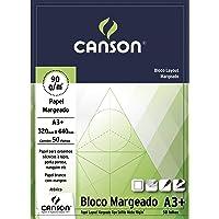 Bloco Canson Layout Margeado 90 g/m² com 50 folhas formato A3+
