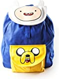 Meroncourt Adventure Time Logo with Eyes Children's Backpack (Blue/Yellow)