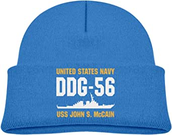 ADGoods Kids Children DDG-56 USS John S McCain Beanie Hat Knitted Beanie Knit Beanie For Boys Girls Gorra de béisbol para niños
