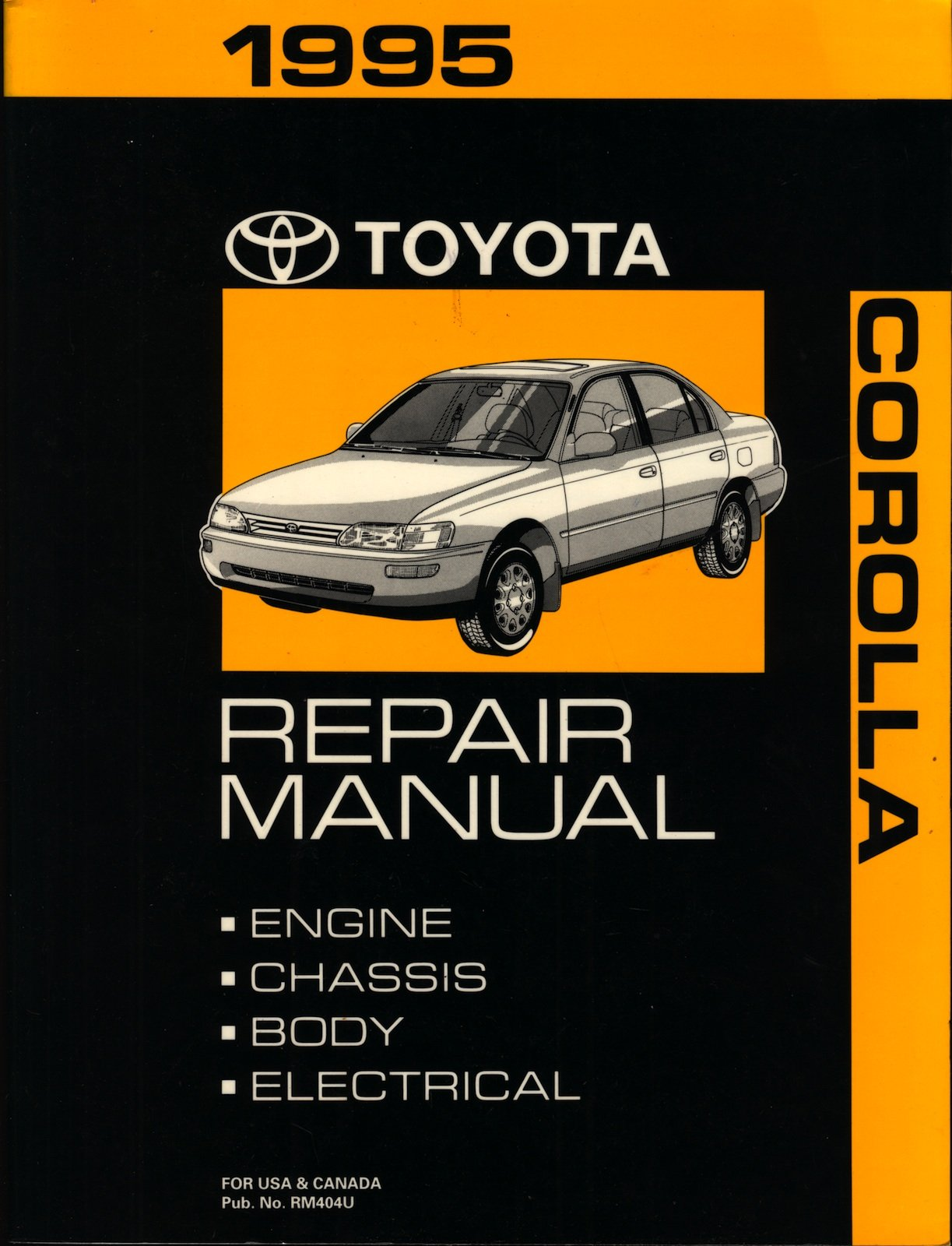 1995 Toyota Corolla Repair Manual Toyota Amazoncom Books