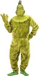 elope Dr. Seuss The Grinch Deluxe Jumpsuit Mens (S/M)
