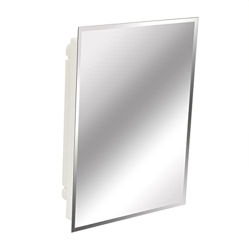 American Pride 9622WBAR12 Recessed Frameless Beveled Polished Edge Mirror Medicine Cabinet 16 x 22
