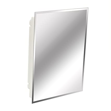 Beautiful American Pride 9622WBAR12 Recessed Frameless Beveled Polished Edge Mirror Medicine  Cabinet, 16 X 22u0026quot;