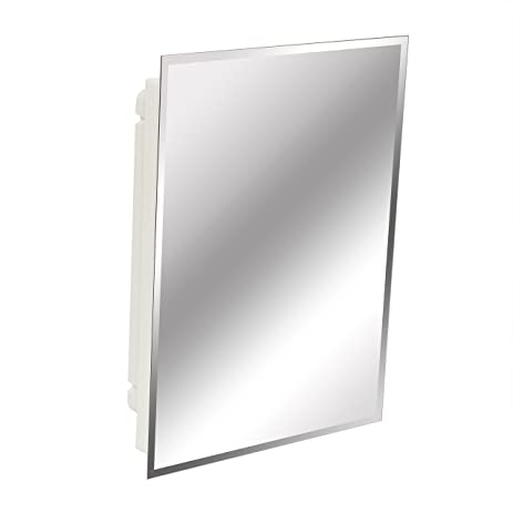 Superb American Pride 9622WBAR12 Recessed Frameless Beveled Polished Edge Mirror Medicine  Cabinet, 16 X 22u0026quot;