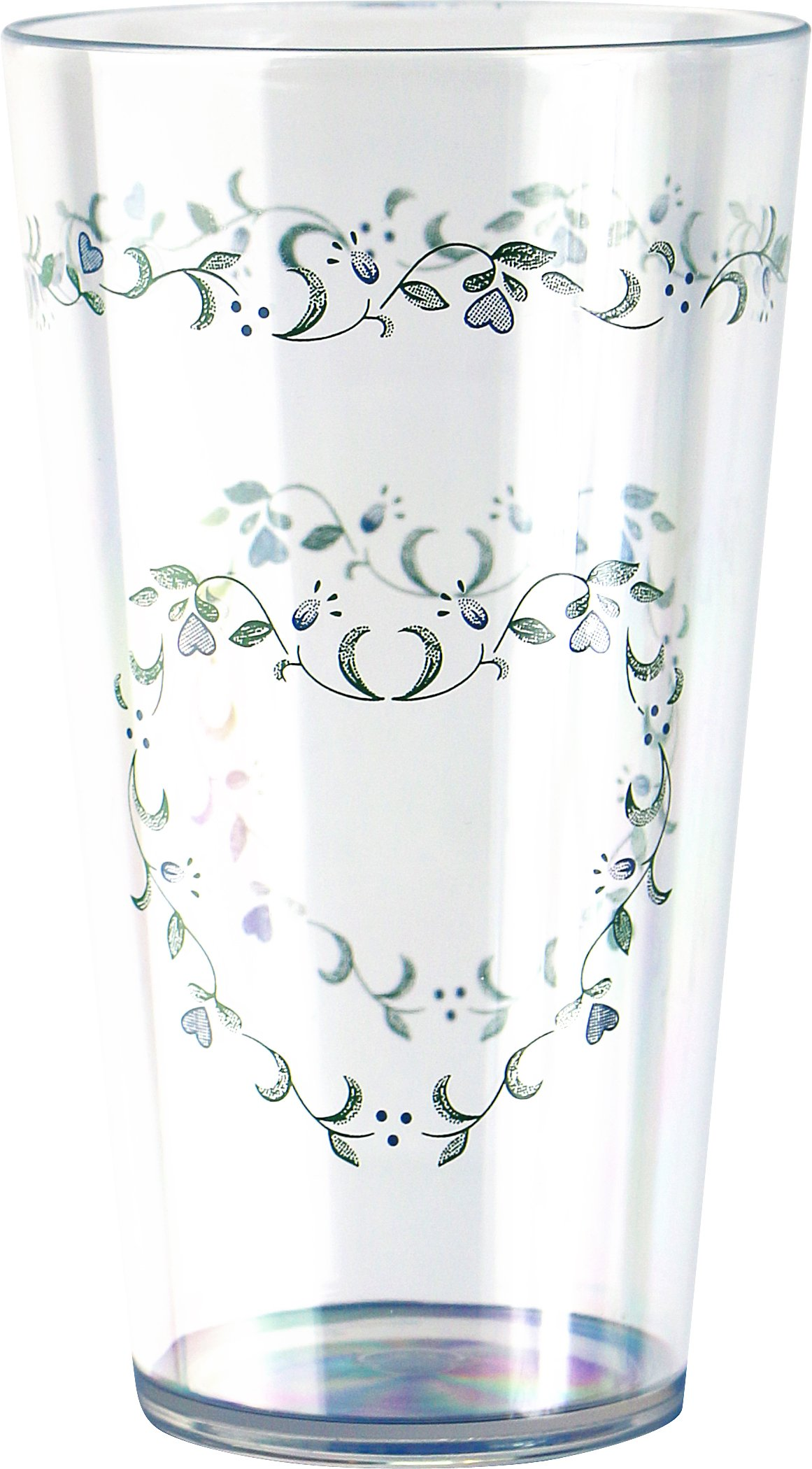 Corelle Coordinates by Reston Lloyd Country Cottage Acrylic Tumbler Glasses, 19-Ounce, Set of 6