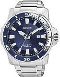 Citizen AW1220-54L - Reloj analógico de cuarzo para hombre, correa de titanio multicolor