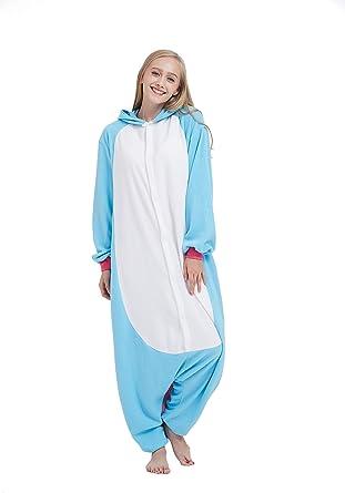 Fandecie Animal Costume Animal Traje Pijamas Pijamas Jumpsuit Unicornio Mujer Hombre Cosplay Adulto para Carnaval Animal Halloween
