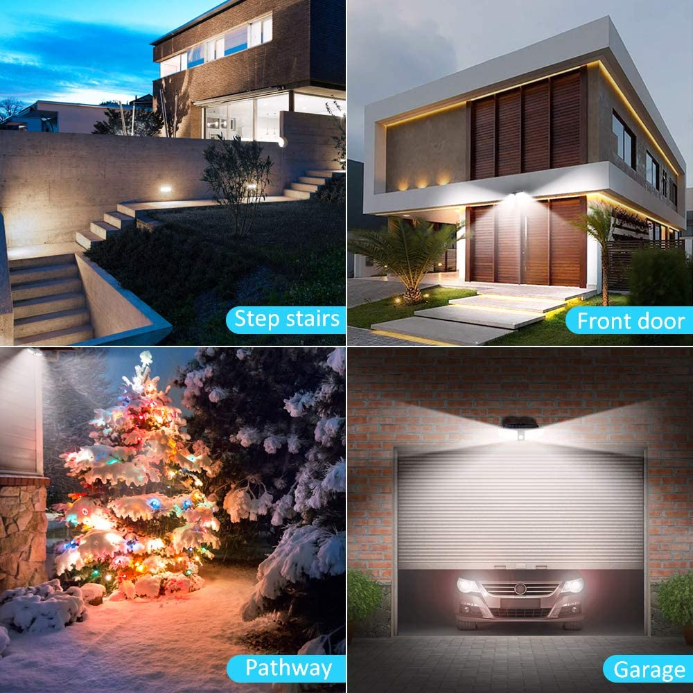 Bright 2000LM Security Night Light for Garage 100 LED Motion Sensor Light Pathway Yard Comsoon Solar Lights Outdoor Deck 1 Pack IP65 Waterproof Outdoor Wall Light with 220/° Wide Angle