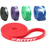 "RitFit 41"" Pull Up Assist Band - Heavy Duty Resistance Band for Pull-up Assistance, Resistance Exercise, Mobility, Stretch, Powerlifting - Starter e-Guide INCLUDED"
