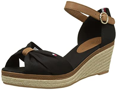 2b029ad7ffe Tommy Hilfiger Women's E1285lba 40d Wedge Heels Sandals, Black (Black 990),  3.5