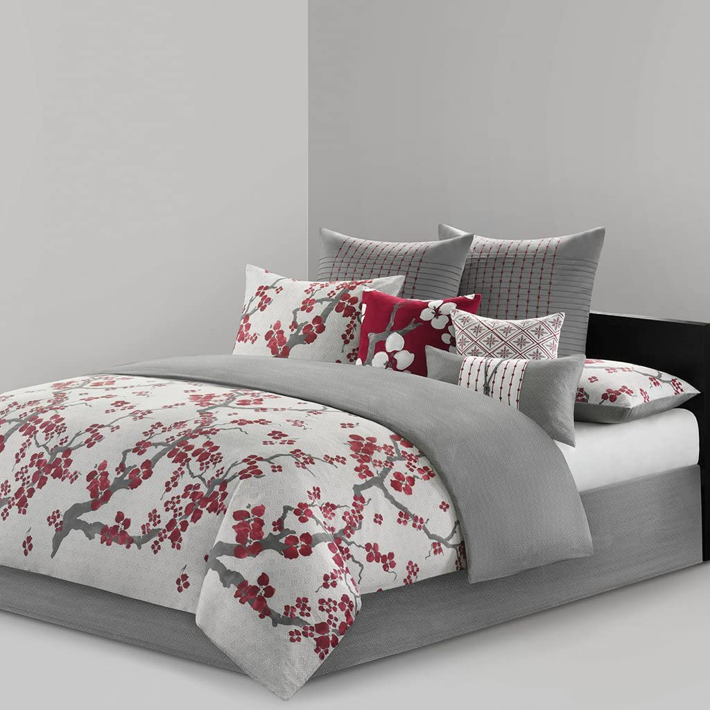 N Natori Cherry Blossom Comforter Set Multi Queen