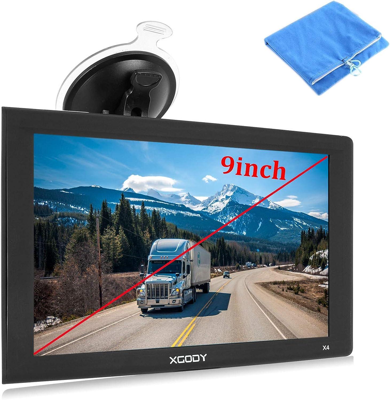 Navegación GPS de 9 Pulgadas para camión, GPS con Pantalla táctil Grande para navegación, 8 GB, ROM, Sistema Sat Nav navegador, Alarma de conducción, actualizaciones de mapas de por Vida