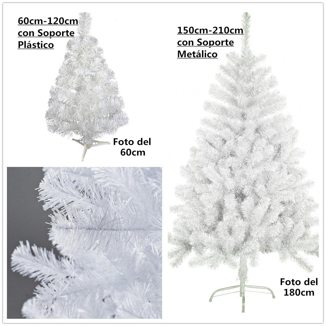 Árbol de Navidad artificial blanco Envio Gratis C soporte metálico árboles cm