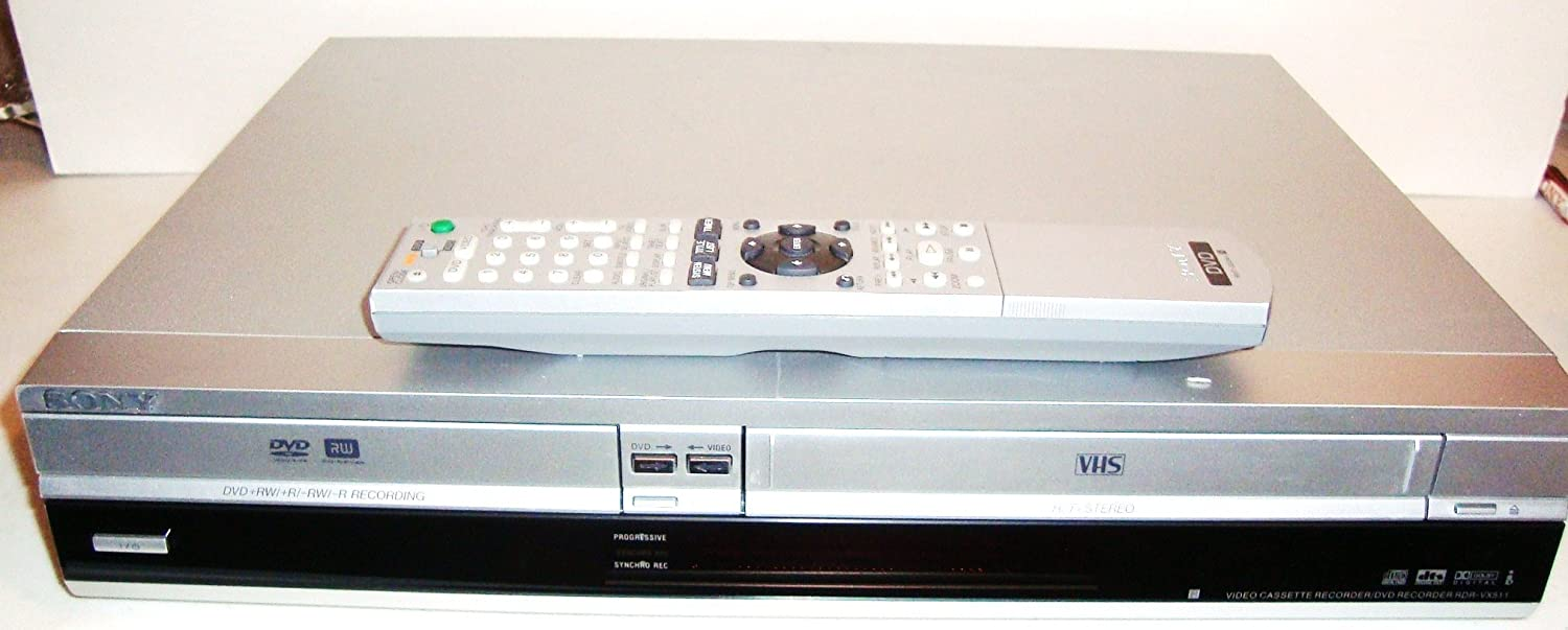 Amazon.com: Sony RDR-VX511 DVD Player/Recorder Combo with VCR ...