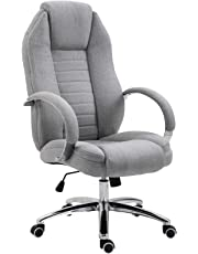 Vinsetto High Back Office Chair Adjustable Swivel Task Chair Economic Design, Full Padded with Armrest, Steel Heavy-Duty Base Sturdy Construction