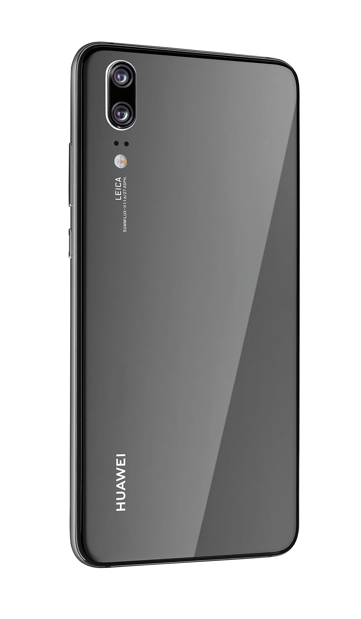 HUAWEI P20 Smartphone BUNDLE (14,7 cm (5,8 Zoll), 128GB interner Speicher, 4GB RAM, 20 MP Plus 12 MP Leica Dual Kamera, Android 8.1, EMUI 8.1) Schwarz + gratis Huawei AM61 Headset [Exklusiv bei Amazon] - Deutsche Version