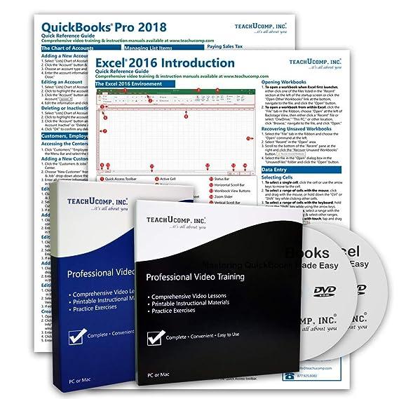 Amazon com: TeachUcomp, Inc  Course used for learning QuickBooks Pro