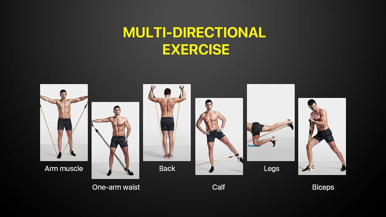 Bandas Elasticas Musculacion,Set de Bandas de Resistencia con ...