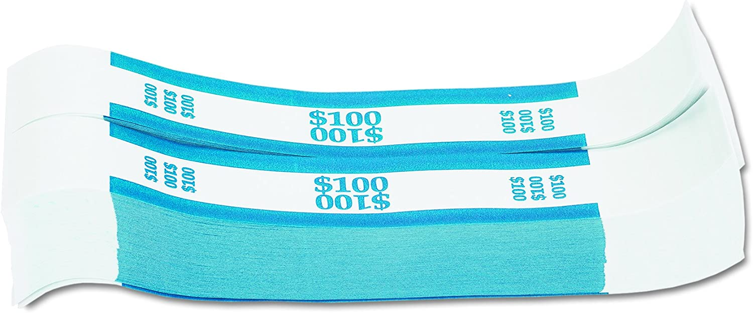 25 USA currency straps $1 bills Self Sealing money bands 100 blue