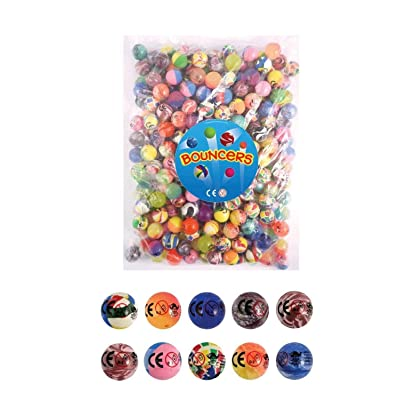 Bouncy Balls - Pack of 20 - Party Bag filler - 27mm bouncy ball: Toys & Games