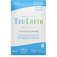 Tru Earth Eco-Strips Laundry Detergent (Fresh Linen Scent, 32 Loads) - Eco-friendly Compostable & Biodegradable Plastic…