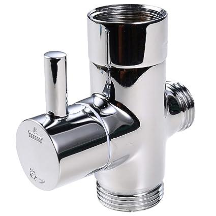 2 Way Shower Diverter Valve.Uhppote Brass Shower Arm Diverter Valve 2 Way Showerhead
