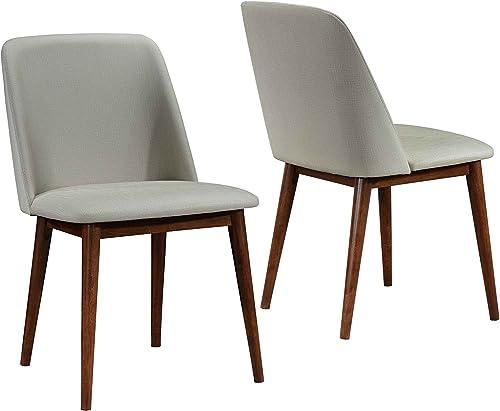 Barett Dining Chairs Grey and Chesnut Set of 2