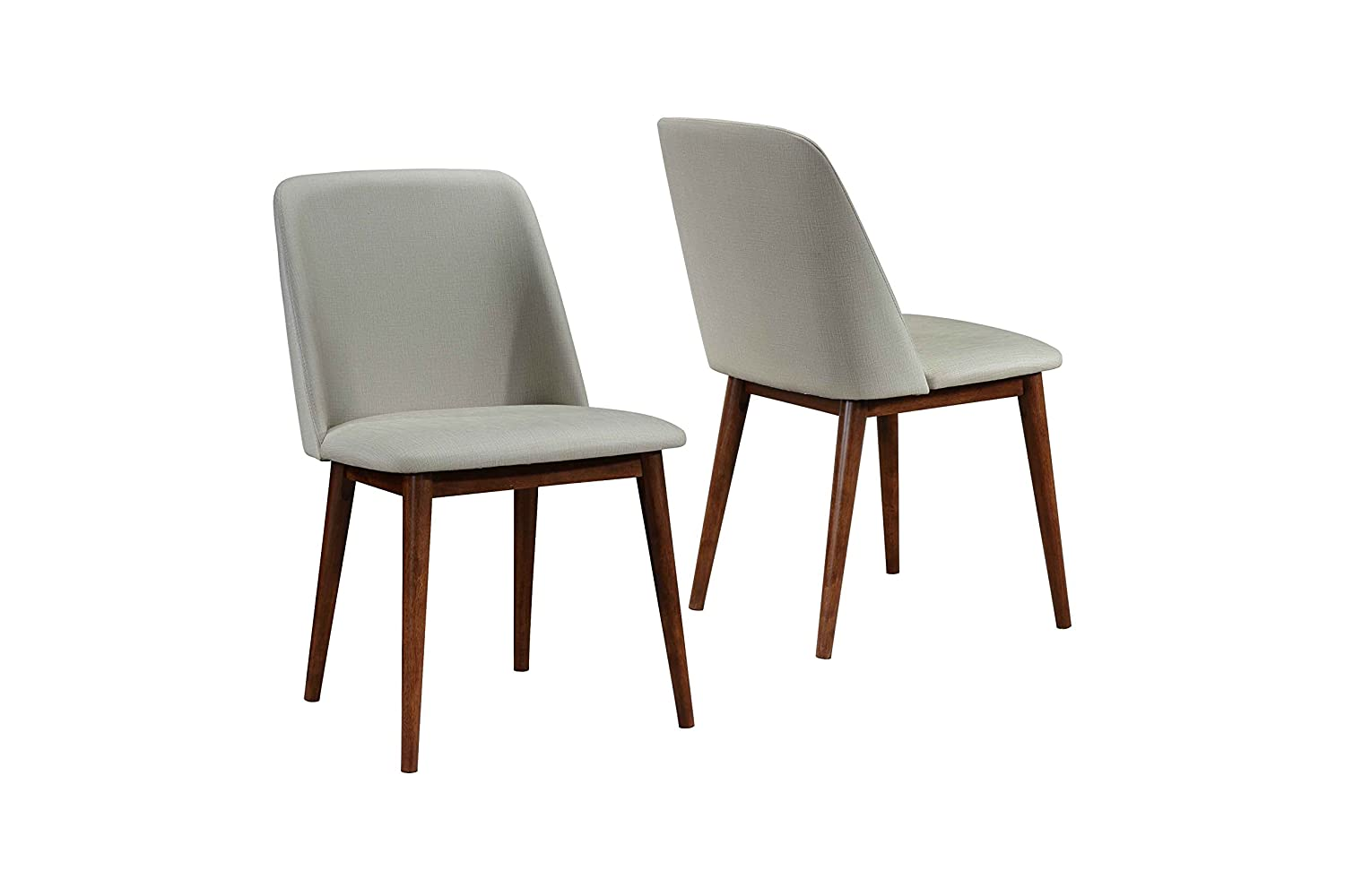Amazing Barett Dining Chairs Grey And Chesnut Set Of 2 Gamerscity Chair Design For Home Gamerscityorg