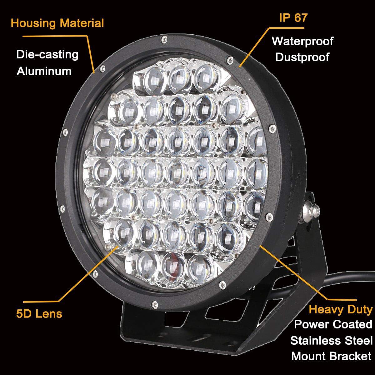 Round Led Driving Lamp 370W 12V Led