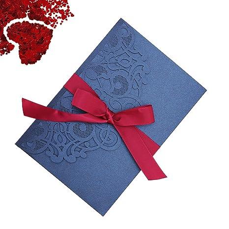 Amazon.com: Tarjetas de invitación de boda, 10 unidades ...