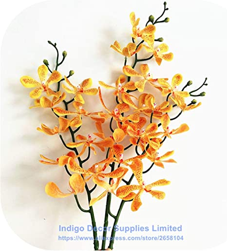 3pcslot,Artificial Flowers Orchid Real Touch Artificial Butterfly Orchid Latex Phalaenopsis for Wedding home Festival decorations