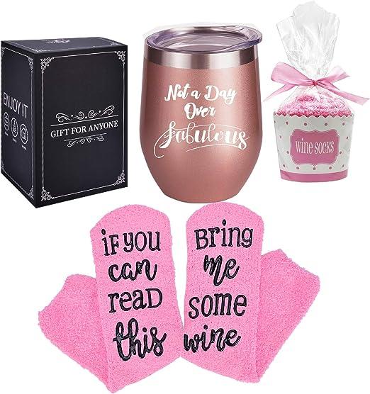 Amazon.com: Si puedes leer esto, calcetines de vino con ...
