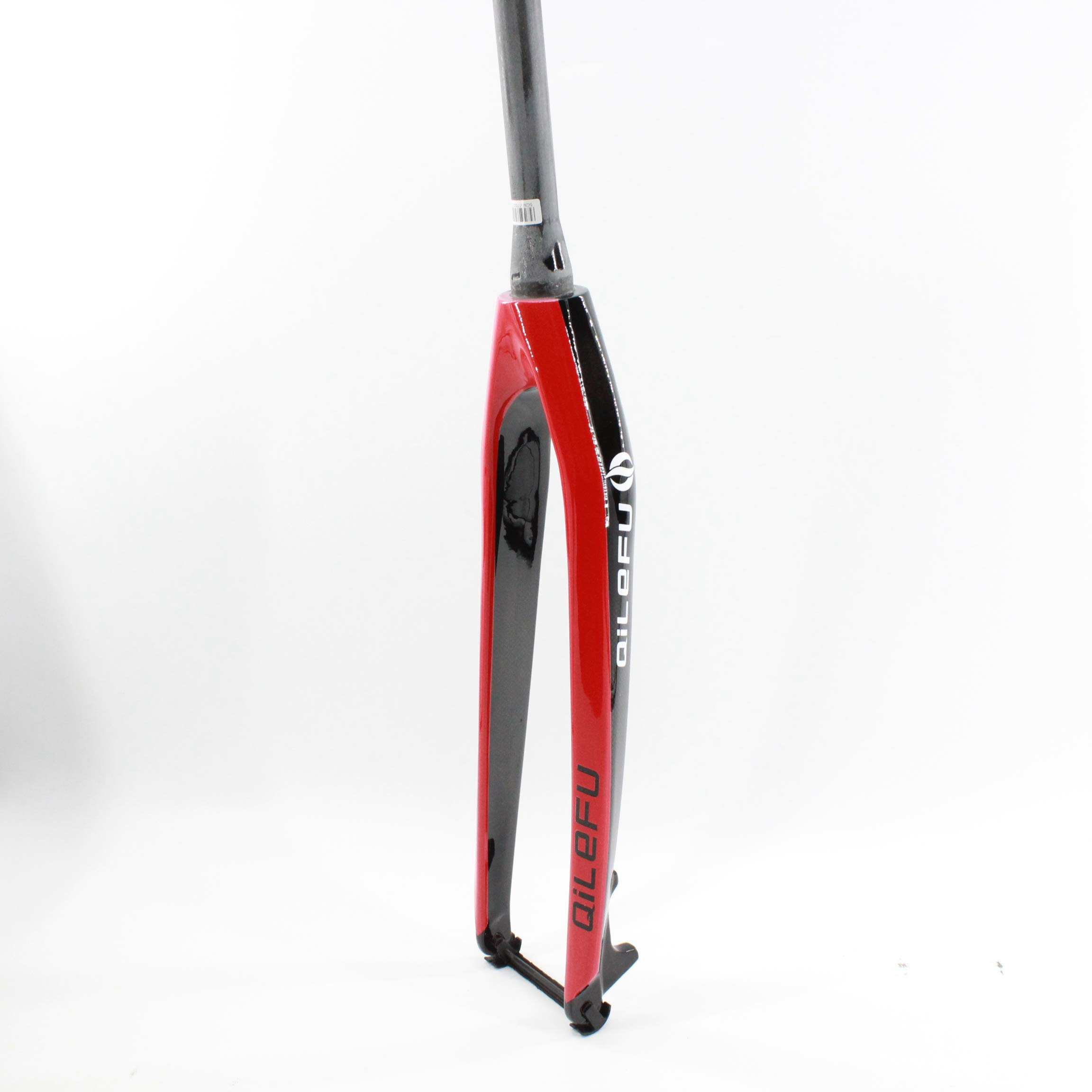 QILEFU 26/27.5/29'' inch Mountain Bicycle Full Carbon Bike Front Fork disc Brake Tapered Tube MTB 26/27.5/29er (red, 26er) by QILEFU