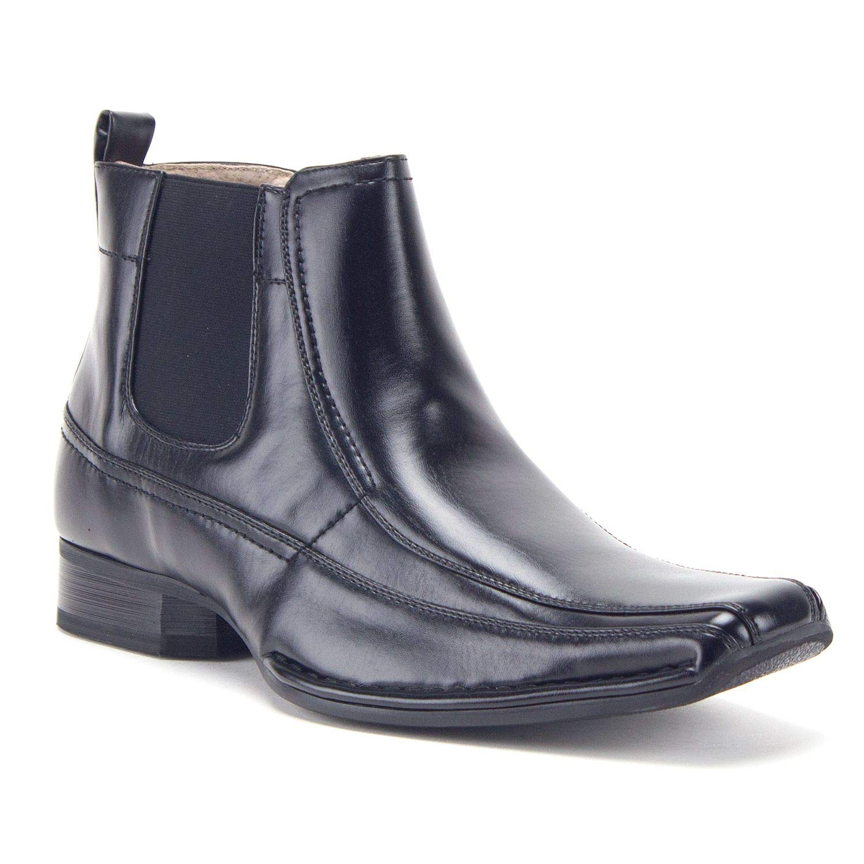 Amazon.com   Jaime Aldo Mens 76631 Leather Lined Ankle High Square Toe Chelsea Dress Boots   Chelsea