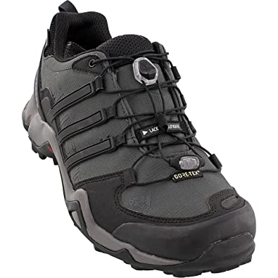 Men's Terrex Swift R GTX Dark Grey/Black/Granite Hiking Shoes - 15 D(M) US