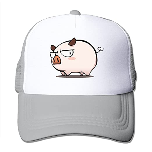 P-Jack Adults Unisex Adjustable Original Custom Made Snapback Cap Hat  Cotton Cute Pig Live 10292cb7348