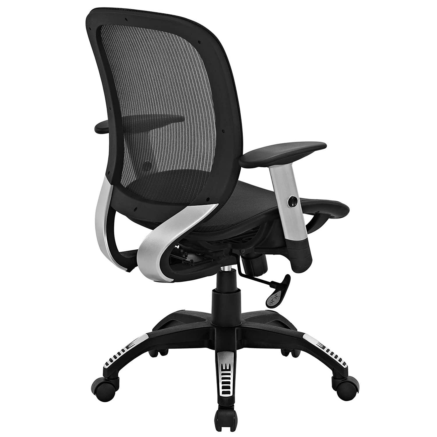 amazoncom modway arillus all mesh office chair black kitchen u0026 dining