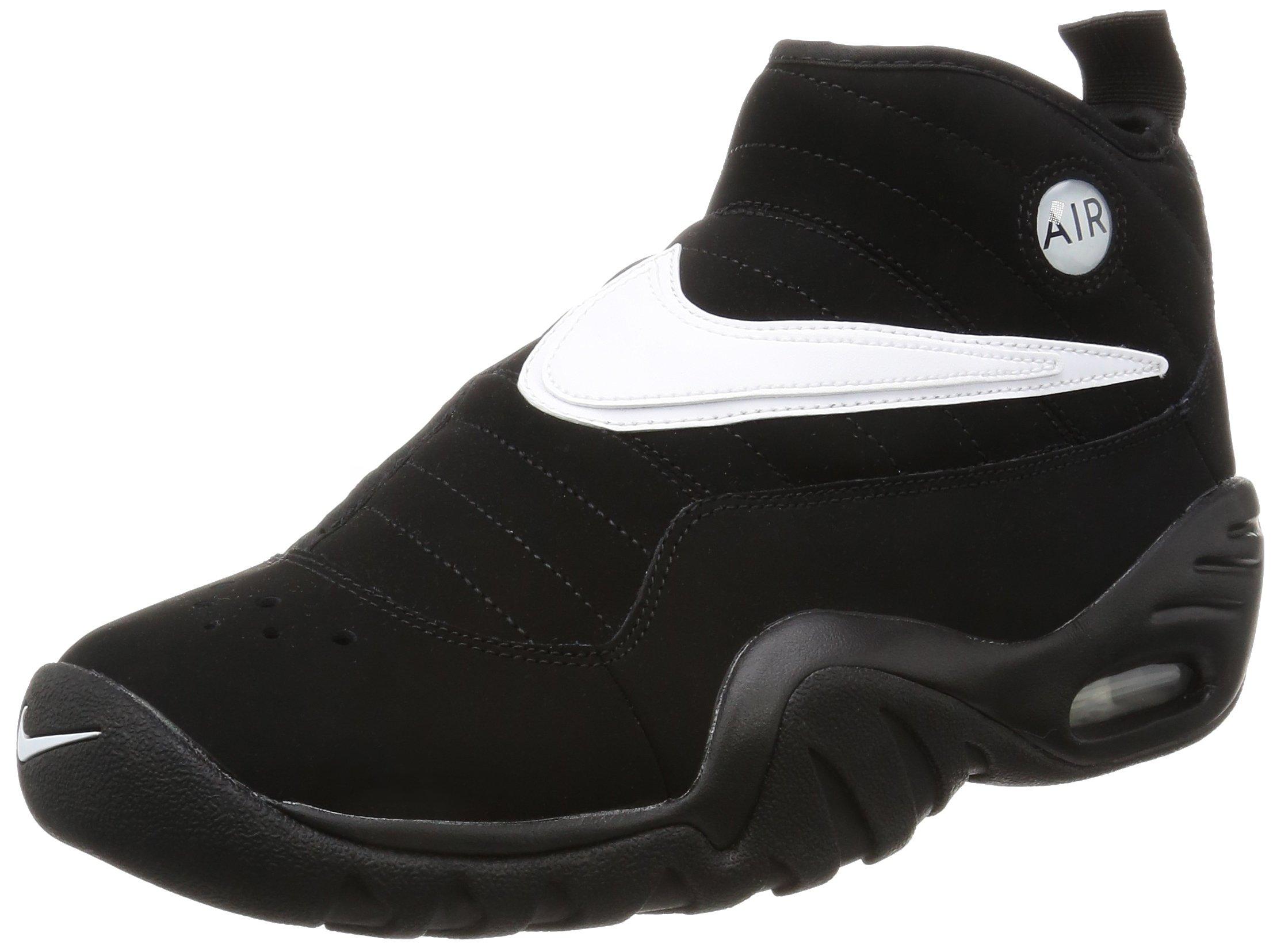 Nike Men's Air Shake Ndestrukt Shoe, Black/Black/Team Orange/White, 8.5 D(M) US