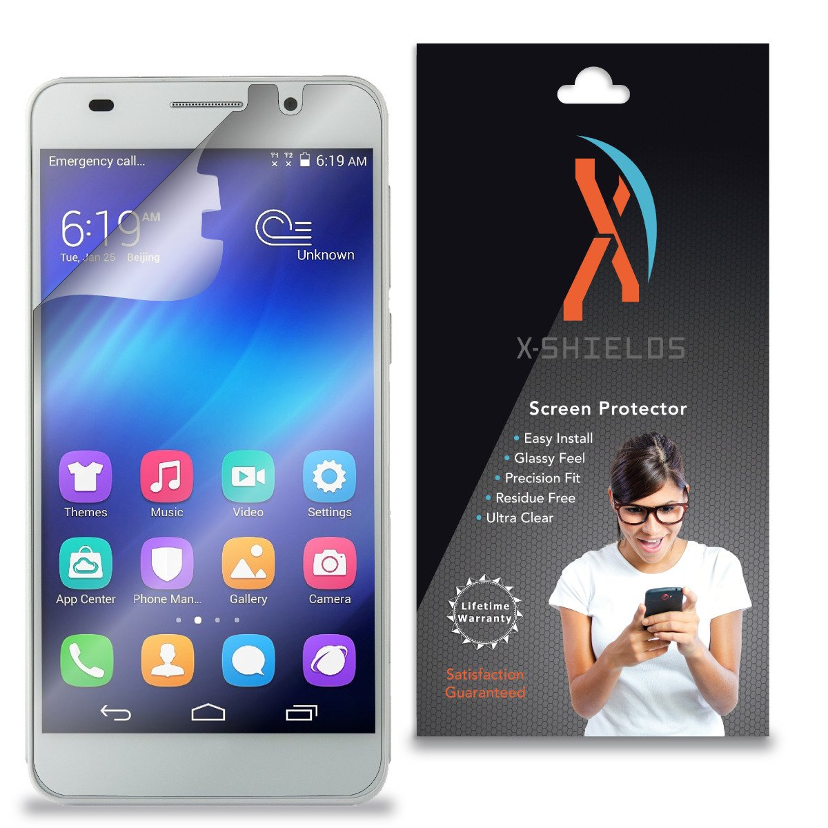 XShields© (5-Pack) Screen Protectors for Huawei Honor 4A (Ultra Clear)