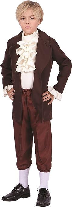 Brand New President Thomas Jefferson Child Costume M
