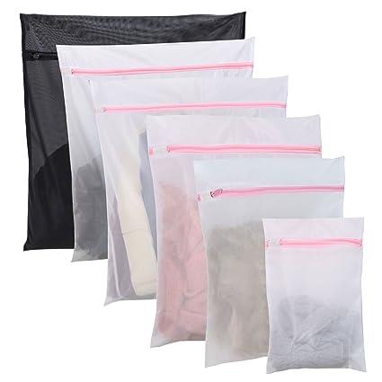 Hopaba 6Pcs bolsas para la colada bolsa lavado de malla de lavado - 5 tamaños diferentes