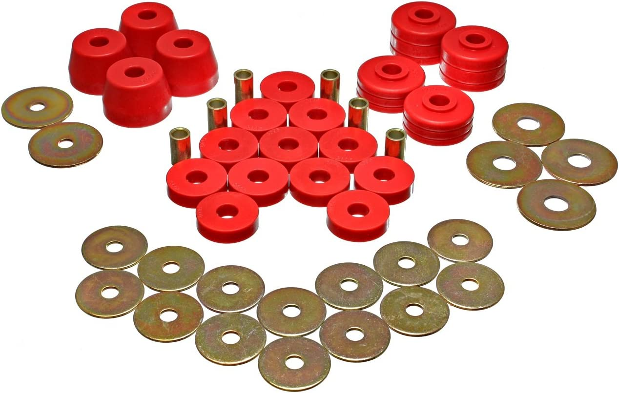 Energy Suspension 4.4123R BODY MOUNT BUSHING SET
