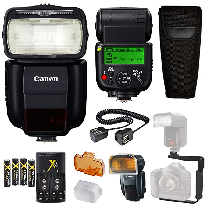 Amazon.com: Canon Speedlite 430EX iii-rt Flash + Soporte en ...