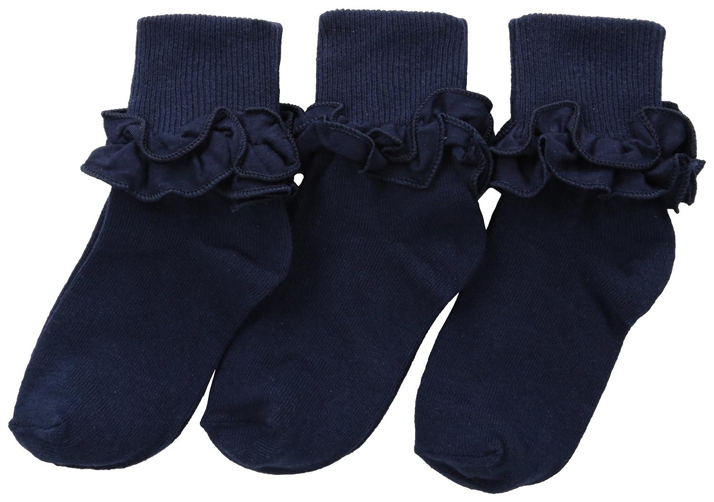 Jefferies Socks Little Girls Misty Ruffle Turn Cuff Pack of 3