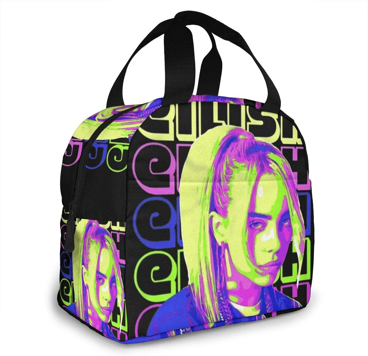 Billie-Eilish Lovers Leakproof Lunch Bag Water-Resistant Lunch Box Leakproof Cooler Lunch Tote Bag for Work//School//Picnic